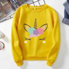 Sweat shirt with ice-cream cone cat print export quality