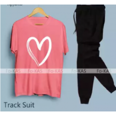 SUMMER COLLECTION heart  print  tracksuit for women soft trendy comfortable
