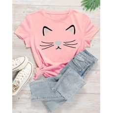 SUMMER COLLECTION cat printed shirt for women soft trendy comfortable