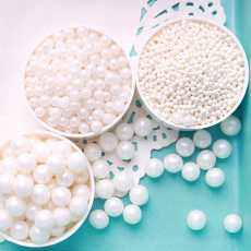 Edible Pearls for cake decoration white color in 3 different sizes