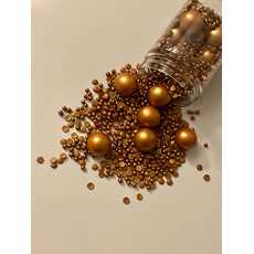 Edible copper multi sprinkles mix theme for cake and dessert decoration...