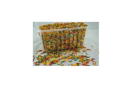 Edible colorful mix vermicelli sprinkles for cake and desserts decoration...